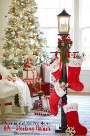 Christmas Stocking Decorations Best 25 Stocking Tree Ideas On Pinterest Stocking Stand