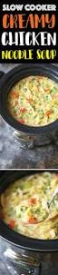 slow cooker creamy chicken noodle soup damn delicious