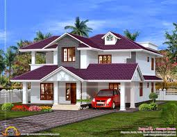 beautiful house plan in purple roof kerala home design and floor