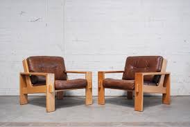 Leather Armchairs Vintage Vintage Bonanza Cognac Brown Leather Armchairs By Esko Pajamies