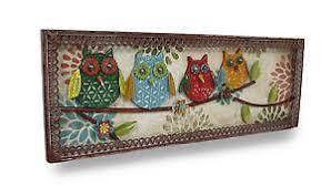 Owl Wall Decor by Metal Owl Ebay