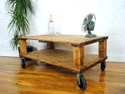 Rustic Coffee Table On Wheels Rustic Coffee Tables With Wheels Coffee Table On Wheels Creative