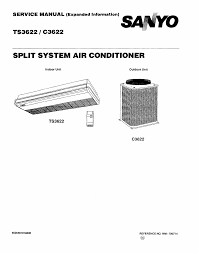 sanyo air conditioners c3622 pdf user u0027s manual free download u0026 preview
