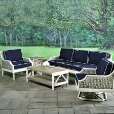 Deep Seating Wicker Patio Furniture - mooring cushioned wicker deep seating collection libby langdon
