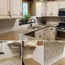 antique white kitchen cabinets with subway tile backsplash glazed kitchen cabinets and highland park antique white