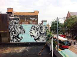 mural ish blackburn face off mural for private client toronto