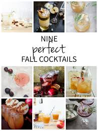 nine fall cocktails to make at home