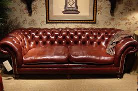 hancock and moore leather sofa tufted back sofa antique glaze lambskin auburn furn manufacturer