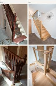 before and after glass and wood staircase renovations medlock