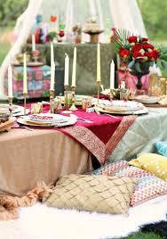 decoration jardin marocain thème mariage marocain pour une fête magnifique en plein air