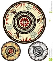 painted greek bowl design stock vector image 69163945