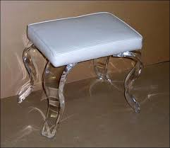 lucite vanity stool bench with upholstered seat at 1stdibs for