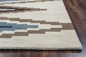 Turquoise Brown Rug Loon Peak Upper St Vrain Hand Tufted Wool Ivory U0026 Cream Brown