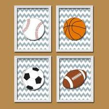 Sports Nursery Wall Decor Baby Boy Nursery Baby Boy Sports Prints Sports Decor Sports