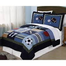 Kids Bedding Set For Boys by Laura Hart Kids Blue All State 3 Piece Quilt Set Free Shipping