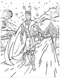 loki asgard avengers coloring loki