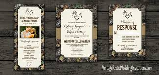 camo wedding invitations camouflage browning wedding invitations vintage rustic wedding