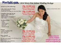 cheap wedding packages massulit complete affordable wedding packages w garden
