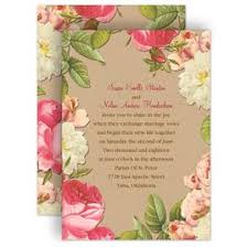 floral wedding invitations invitations by dawn