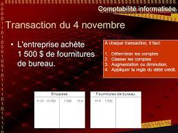 matériel de bureau comptabilité la comptabilisation directement dans les comptes en t ppt