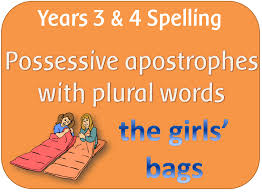 spag year 3 u0026 4 spelling possessive apostrophe with plural words