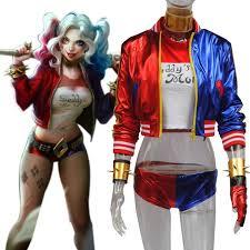 Harley Quinn Halloween Costume Aliexpress Buy 8 Pcs Harley Quinn Costume Squad