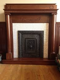 gorgeous fireplace surround with lustrous white herringbone pearl