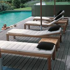 Outdoor Patio Lounge Chairs Teak Outdoor Chaise Lounge Contemporary Patio Chicago By