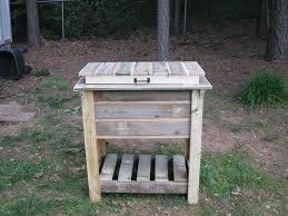 wooden deck cooler by donnall lumberjocks com woodworking