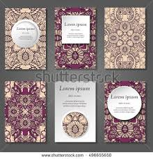 Business Cards Front And Back Set Stylish Business Card Template Abstract Stock Vector 501850627