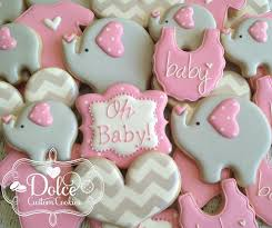 baby shower cookies dolce elephant baby shower baby shower cookies