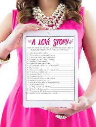 printable bridal shower game a love story play party plan