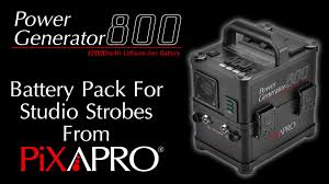 pixapro power generator 800 battery pack for studio strobes