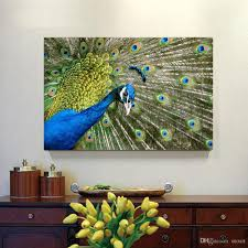 2017 peacock canvas painting home decor canvas wall art picture