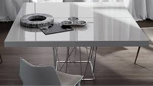 White Lacquer Dining Table by Cella Dining Table Zuri Furniture