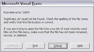 resolved excel runtime error 1004 filename could not be found