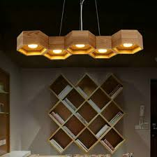 Wooden Chandelier Modern 5 Light Wood Vintage Modern Pendant Chandelier Lustres De Led