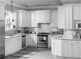 Traditional Backsplashes For Kitchens Furniture Cool Kitchen Design With White Costco Cabinets And