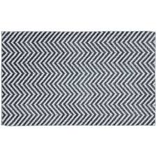 Black And White Bathroom Rugs Resort Collection Plush Shag Chenille Gray 21 In X 34 In Bath