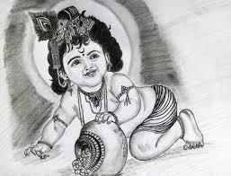 pencil sketch krishna drawing sketch picture