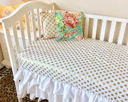 Gold Polka Dot Bedding Baby Crib Sets Pink And Gold Luxury Crib Bedding Ritzy
