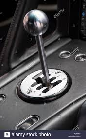 sports car manual gear stick nissan 350z tuned car stock photo