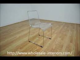 Clear Acrylic Dining Chair Wholesale Interiors Lino Transparent Clear Acrylic Dining Chair