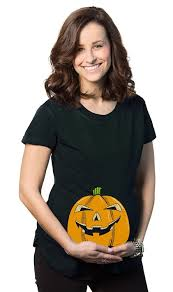 Halloween Shirts Women Maternity Smiling Jack O Lantern Funny Shirt Halloween Pregnancy T
