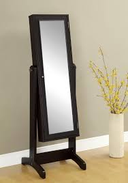 decor standing modern armoire in black with mirror for home