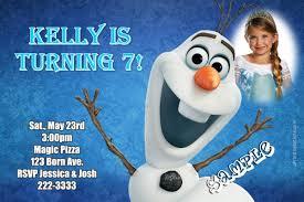 frozen movie olaf birthday invitations