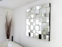 FuturisticAbstractWallMirrorinModernLivingRoomWall - Design mirrors for living rooms