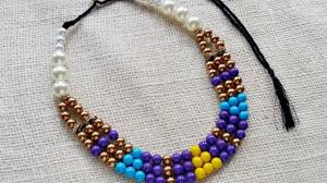 beaded necklace photos images How to create an ethnic style beaded necklace diy style tutorial jpg