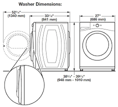 Faucet Washer Size Chart Whirlpool Wfw8740dw 27 Inch 4 3 Cu Ft Front Load Washer In