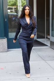 kim kardashian u0027s chic power suit instyle com